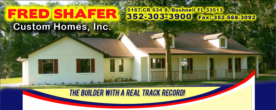 New Home Standard Features For Fred Shafer Custom Homes